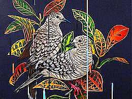 diaporama pps Oiseaux et fleurs en peinture – Frank Gonzales