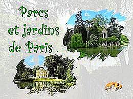 diaporama pps Parcs et jardins de Paris