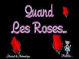 diaporama pps Quand les roses – Adamo
