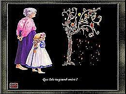 diaporama pps Que fais-tu grand mère