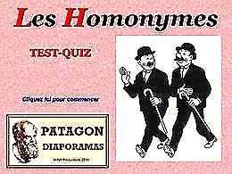 diaporama pps Quiz homonymes