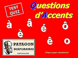 diaporama pps Quiz questions d'accents