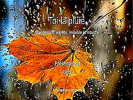 diaporama pps Toi la pluie clandestine