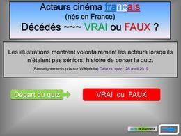 diaporama pps Acteurs français décédés vrai ou faux