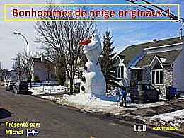 diaporama pps Bonhommes de neige originaux