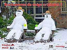 diaporama pps Bonhommes de neige originaux 2