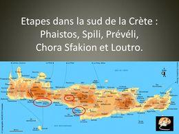 diaporama pps Crète Faistos Spili Prévéli Loutro