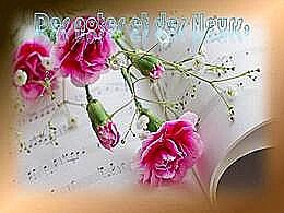 diaporama pps Des notes et des fleurs