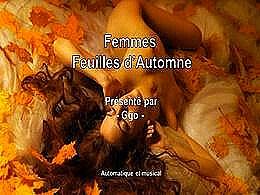 diaporama pps Femmes feuilles d'automne