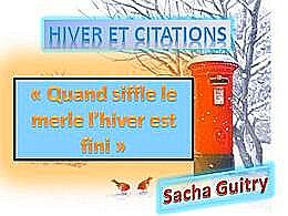 diaporama pps Hiver et citations