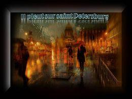 diaporama pps Il pleut sur Saint-Pétersbourg