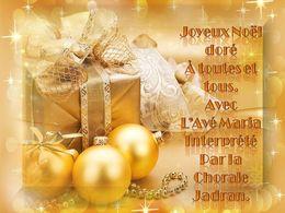 diaporama pps Joyeux Noël doré à toutes et tous