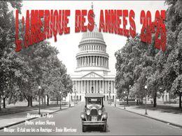 diaporama pps L'Amérique des années 20