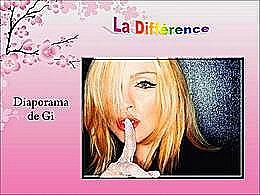 diaporama pps La différence
