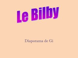 diaporama pps Le Bilby