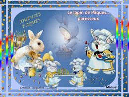 diaporama pps Le lapin paresseux à Pâques