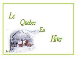 diaporama pps Le Québec en hiver