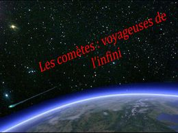 diaporama pps Les comètes voyageuses de l'infini