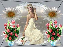 diaporama pps Les femmes et les fleurs