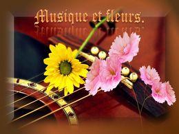 diaporama pps Musique et fleurs