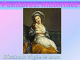 diaporama pps Peintures et maternité