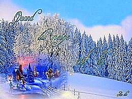 diaporama pps Quand la neige est là