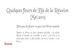 diaporama pps Fleurs de la Réunion mai 2019