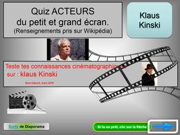diaporama pps Quiz cinéma Klaus Kinski