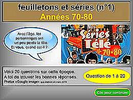 diaporama pps Séries et feuilletons 70-80