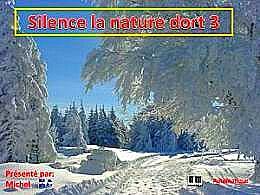 diaporama pps Silence la nature dort 3