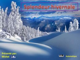 diaporama pps Splendeur hivernale