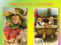 diaporama pps Vintage fil à coudre