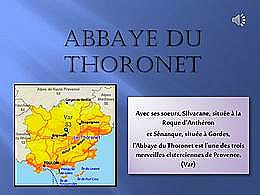 diaporama pps Abbaye du Thoronet
