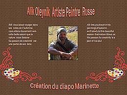 diaporama pps Alik Oleynik artiste peintre russe