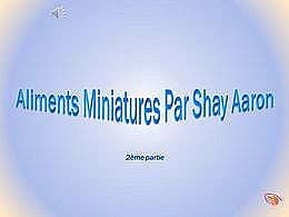 diaporama pps Aliments miniatures 2 – Shay Aaron