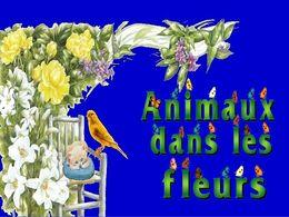 diaporama pps Animaux dans les fleurs