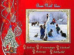 diaporama pps Beau Noël blanc