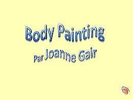 diaporama pps Body painting par Joanne Gair