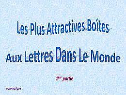 diaporama pps Boîtes aux lettres dans le monde 1