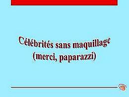 diaporama pps Célébrités sans maquillage