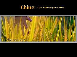 diaporama pps Chine – Richesses peu connues