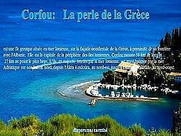 diaporama pps Corfou la perle de la Grèce