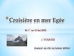 diaporama pps Croisière en mer Égée