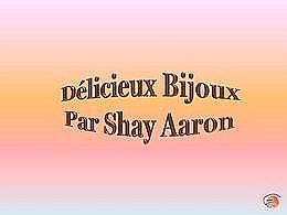 diaporama pps Délicieux bijoux par Shay Aaron