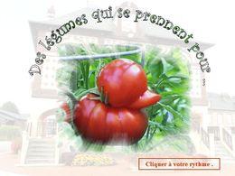 diaporama pps Des légumes qui se prennent pour