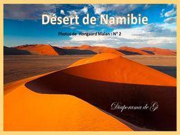 diaporama pps Désert de Namibie photos Hongaard Malan