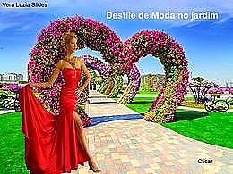diaporama pps Desfile de moda no jardim