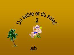 diaporama pps Du sable et du soleil 2