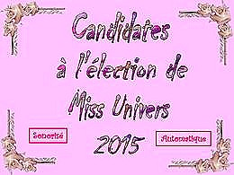diaporama pps Election Miss univers 2015