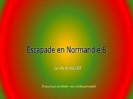 diaporama pps Escapade en Normandie 6 – Falaise